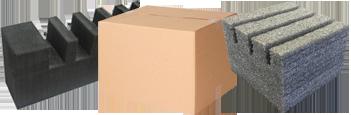 Cremalheira em eva e caixa de papelão - Jobajo